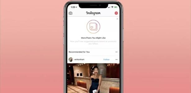 Instagram mostra como funcionará posts recomendados
