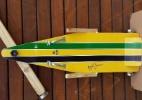 Empresa promove corrida de rolimã em SP e tem carrinho em homenagem a Senna - Divulgação