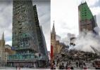 Veja como era o prédio que desabou no centro de SP - Arte/UOL