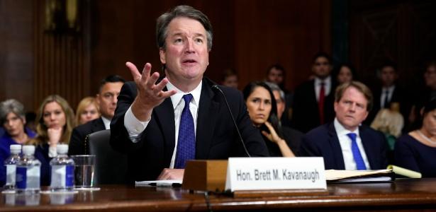 27.set.2018 - Kavanaugh se defendeu das acusações de assédio em Comissão do Senado americano - Andrew Harnik/AFP