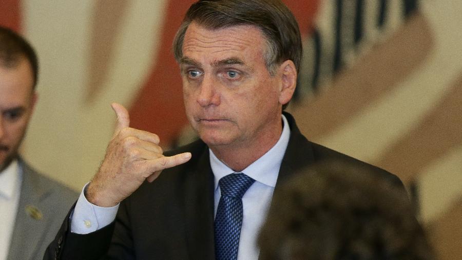 O presidente Jair Bolsonaro durante almoço no palácio do Itamaraty - Pedro Ladeira/Folhapress
