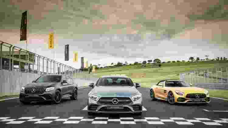 Convidados testam em primeira mão o Mercedes-AMG GT C Roadster e o Mercedes-AMG GLC 63 S Coupé - Divulgação - Divulgação