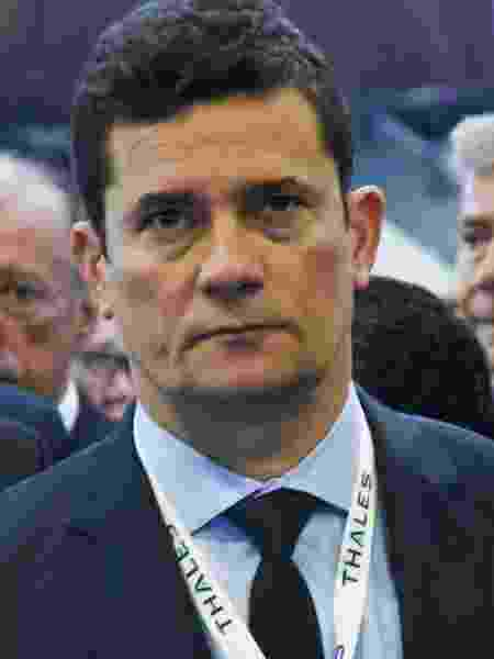 4.abr.2019 - O ministro da Justiça, Sergio Moro, em evento de segurança no Rio de Janeiro - MARCELO FONSECA/ESTADÃO CONTEÚDO
