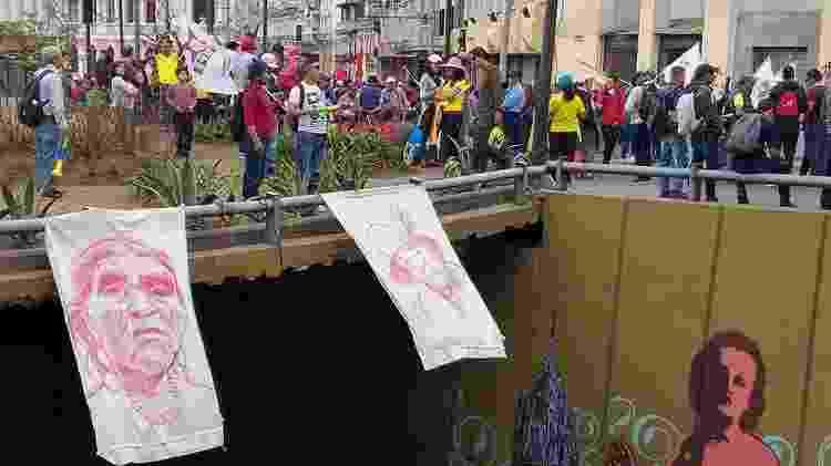 Nos protestos em Quito, os indígenas lembraram as mulheres que fizeram história dentro do movimento - Martías Zibell