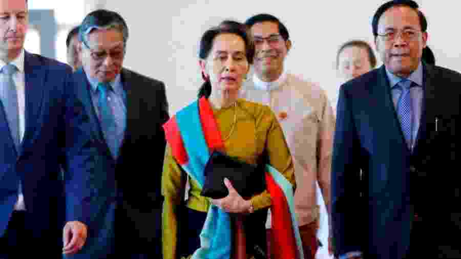 Aung San Suu Kyi decidiu que ela mesma faria a defesa de seu país no Tribunal Internacional de Justiça - AFP