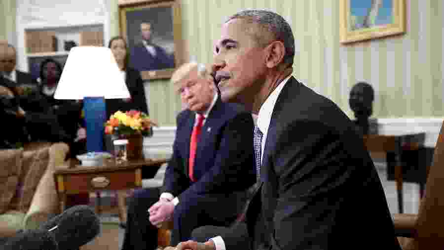 Donald Trump e Barack Obama - Win McNamee/Getty Images