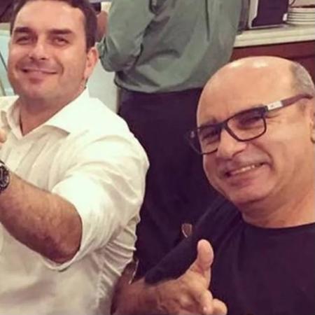 Flávio Bolsonaro e Fabrício Queiroz - Reprodução/Instragram