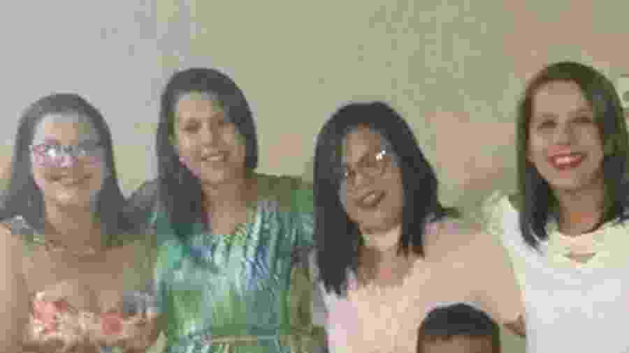 Lígia, Dalylla, Talytta e Samylla: filhas relatam viver pesadelo após morte de mãe em decorrência da covid-19 - Acervo pessoal