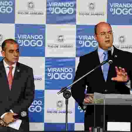 Wilson Witzel (PSC) e o então secretário de Saúde Edmar Santos - Carlos Magno/ Divulgação/ Governo do Rio