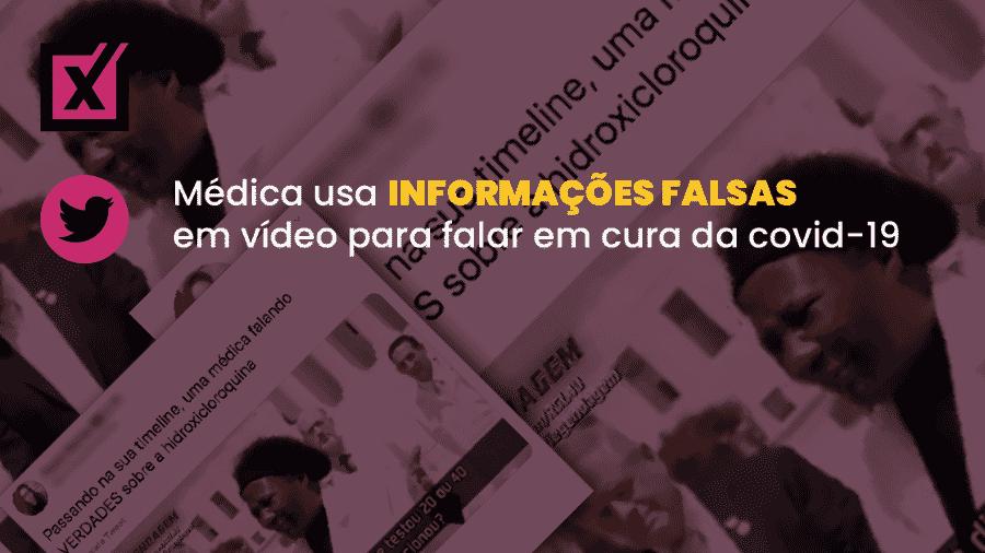 Vídeo com informações falsas sobre a covid-19 viralizou nas redes, compartilhado até por Madonna - Arte/Comprova