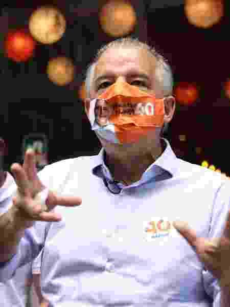 26 out. 2020 - Márcio França (PSB) almoça no centro de São Paulo - DANILO M YOSHIOKA/FUTURA PRESS/ESTADÃO CONTEÚDO
