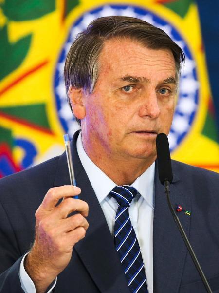 O presidente Jair Bolsonaro discursa durante abertura da Semana das Comunicações no Palácio do Planalto. - Fabio Rodrigues Pozzebom/Agênci/Fotográfo/Agência Brasil