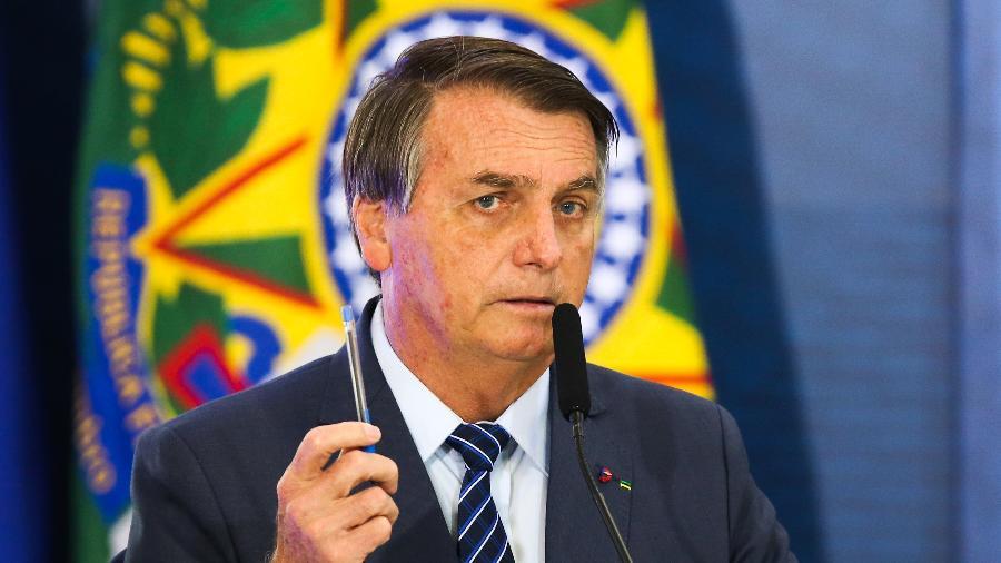 O presidente Jair Bolsonaro discursa durante abertura da Semana das Comunicações no Palácio do Planalto. - Fabio Rodrigues Pozzebom/Agência Brasil