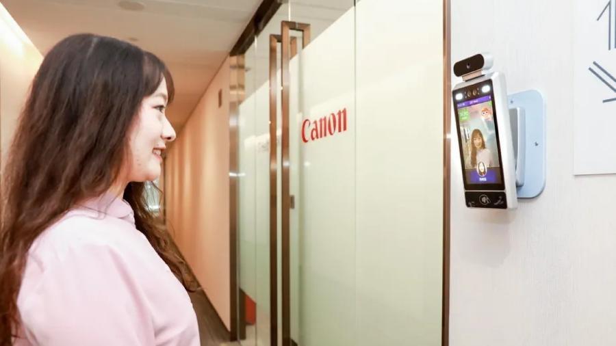 Câmera com IA nos escritórios da Canon na China detecta sorriso de funcionários - Canon Information Technology