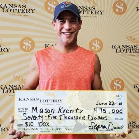 Mason Krentz comprou dois bilhetes da loteria e um deles estava premiado - Divulgação/ Loteria do Kansas