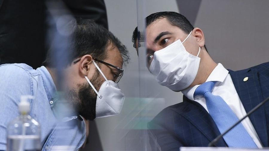 Luis Ricardo e Luis Claudio Miranda relataram supostas irregularidades na contratação da vacina indiana Covaxin - Agência Senado
