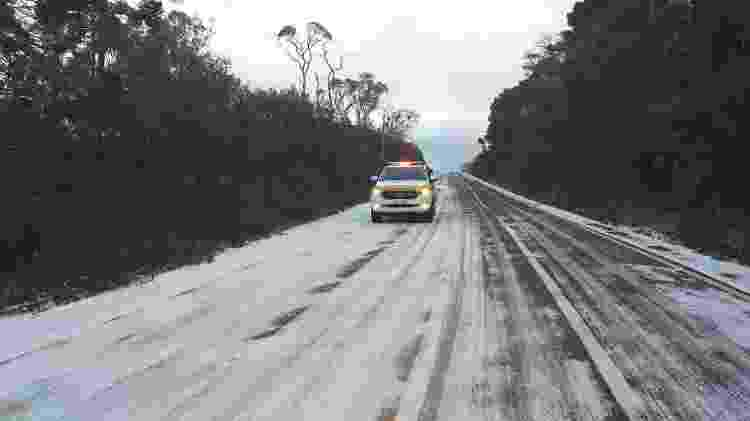 gelo em estrada - Polícia Militar Rodoviária de Santa Catarina - Polícia Militar Rodoviária de Santa Catarina
