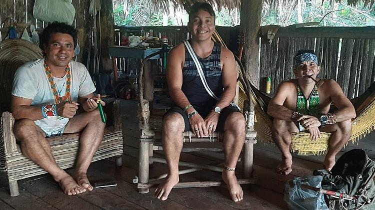 Jósimo junto com integrantes do seu povo Puyanawa - EducationUSA/Divulgação - EducationUSA/Divulgação