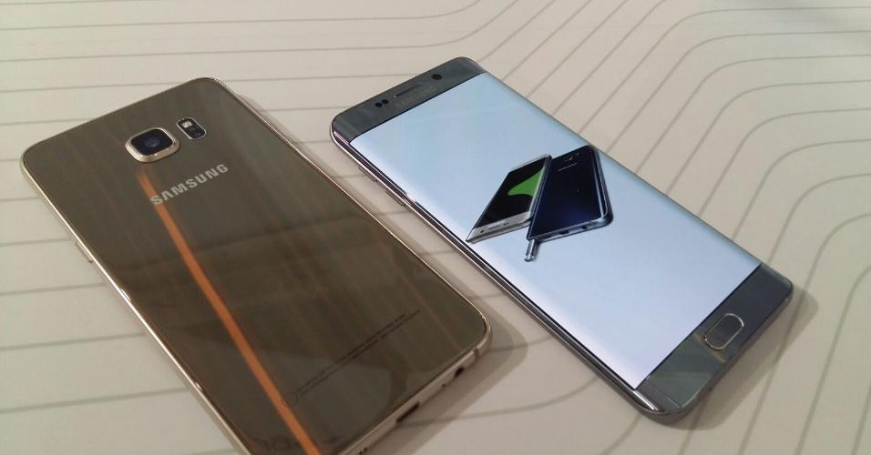 Samsung Galaxy S6 edge+ terá apps para a borda arredondada, que permitirão acessar os aplicativos favoritos e facilitará a comunicação com contatos favoritos. Pela borda, o usuário poderá encontrar facilmente seus contatos pré-adicionados e mandar mensagens ou ligar diretamente