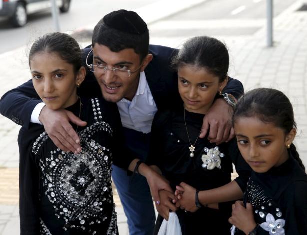 Crianças judias iemenitas que foram trazidas para Israel em operação do governo israelense