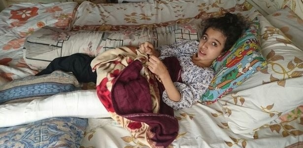 Ghina Ammad Wadi foi atingida no quadril por uma bala disparada por um atirador