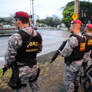 Mais de 130 agentes da Força Nacional estão em Porto Alegre (RS)