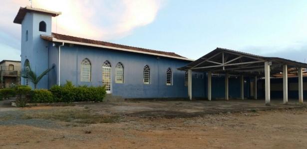Igreja Nossa Senhora Aparecida, em Esmeraldas (MG), que recebeu ordem de reintegração de posse da Justiça para desocupar o terreno