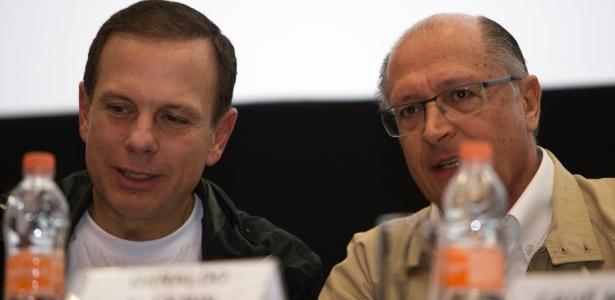 Prefeito João Doria e o governador Geraldo Alckmin estiveram lado a lado na tarde deste sábado