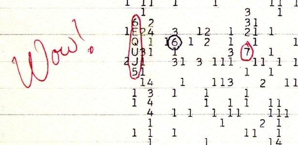 """Os cientistas não conseguiram determinar de onde veio o sinal """"Uau"""""""
