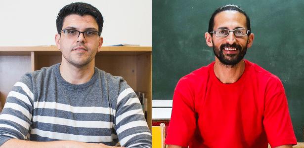 Os professores Douglas (esq.) e Eduardo formam uma minoria na educação de crianças no Brasil