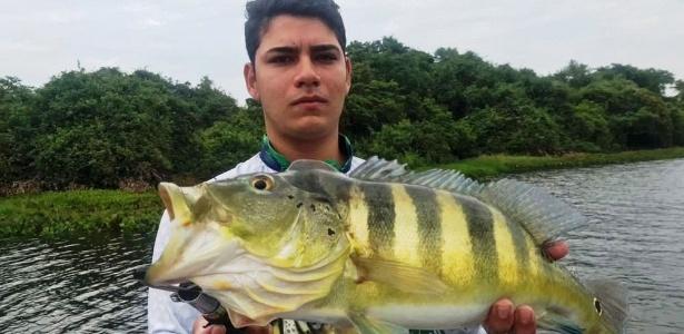 Tucunaré pode chegar a um metro e pesar até dez quilos  - Bruno Maurício de Brito Paiva