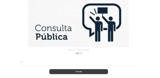 Site funciona como uma suposta consulta pública de CPFs