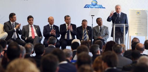 O presidente Michel Temer inaugura o Aeroporto da cidade de Vitória (ES) - THIAGO GUIMARÃES/FUTURA PRESS/FUTURA PRESS/ESTADÃO CONTEÚDO
