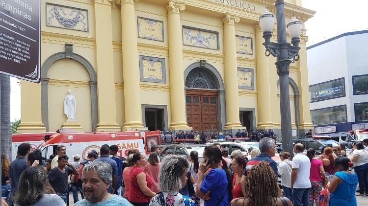50e7ebe197 Homem mata 4 pessoas dentro de igreja em Campinas (SP) e se suicida