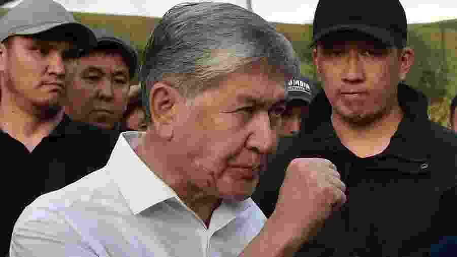 27.jun.2019 - O ex-presidente do Quirguistão Almazbek Atambayev - Vyacheslav Oseledko/AFP