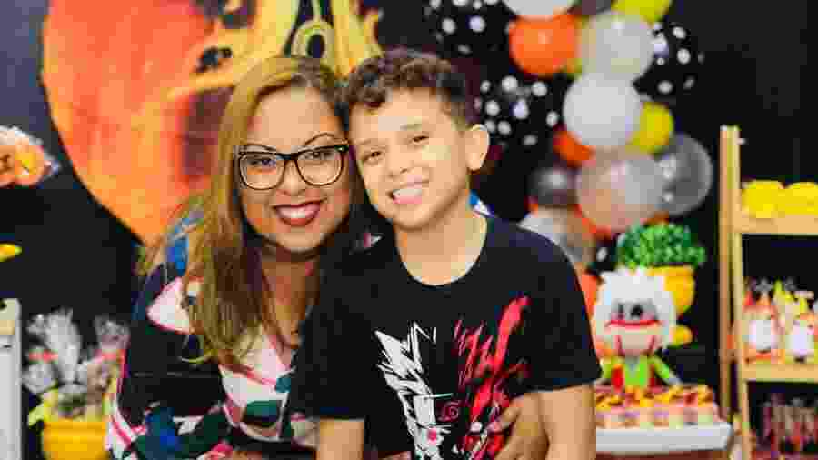 Não fosse o motorista, Fernanda não teria chegado a tempo de comemorar o aniversário do filho - Arquivo pessoal
