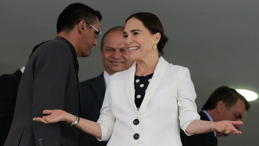 Regina Duarte durante sua cerimônia de posse como secretária especial da Cultura - Alan Santos/PR