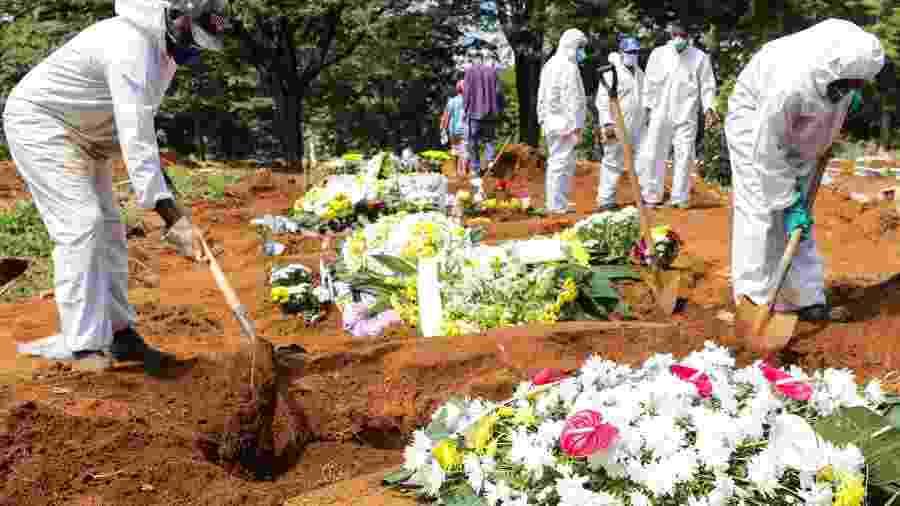 1.04 - Enterros no Cemitério da Vila Formosa, Zona Leste da capital paulista - PAULO GUERETA/ESTADÃO CONTEÚDO