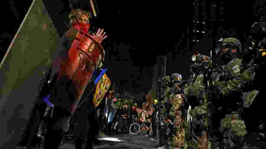 Portland tem sido palco de protestos antirracistas diários desde maio - CAITLIN OCHS/REUTERS