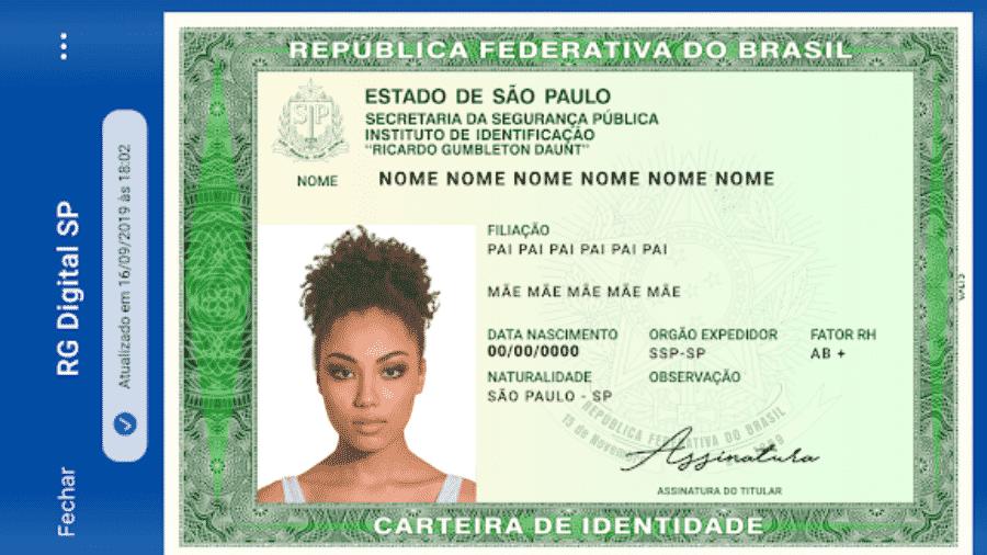 RG digital já pode ser baixado no estado de São Paulo - Divulgação