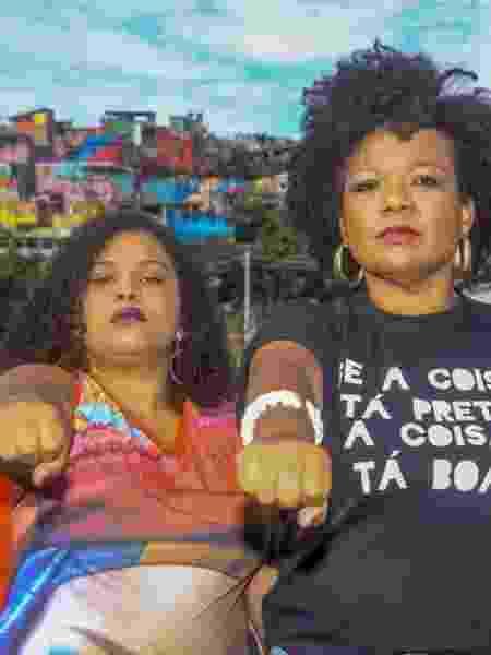 As candidatas à Câmara de BH Tainá Rosa (à esq.) e Lauana Nara (PSOL) - Reprodução/Allan Calisto