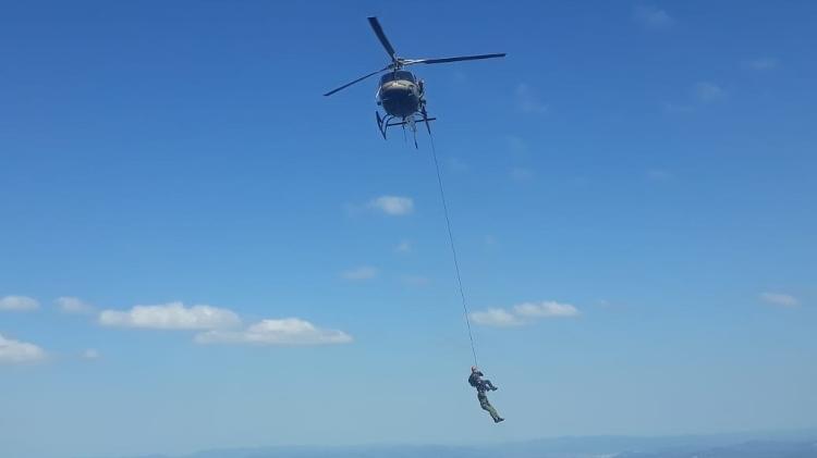 Alpinista é resgatado após acidente durante rapel no Cânion Espraiado, em Urubici (SC) - Divulgação/PM-SC - Divulgação/PM-SC