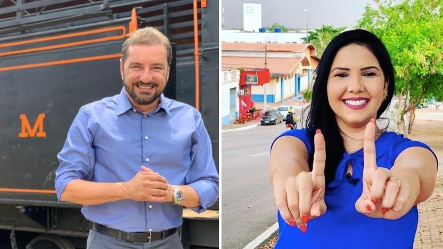 Candidatos Hildon Chaves (PSDB) e Cristiane Lopes (PP), que disputam a prefeitura de Porto Velho - Divulgação/Arte UOL