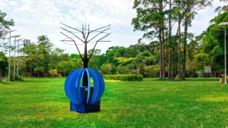 Obra em homenagem às vítimas da covid-19 foi feita em metal e está no Parque do Carmo, na Zona Leste da capital - Divulgação/ Projeto Higia Mente Saudável e Avarc