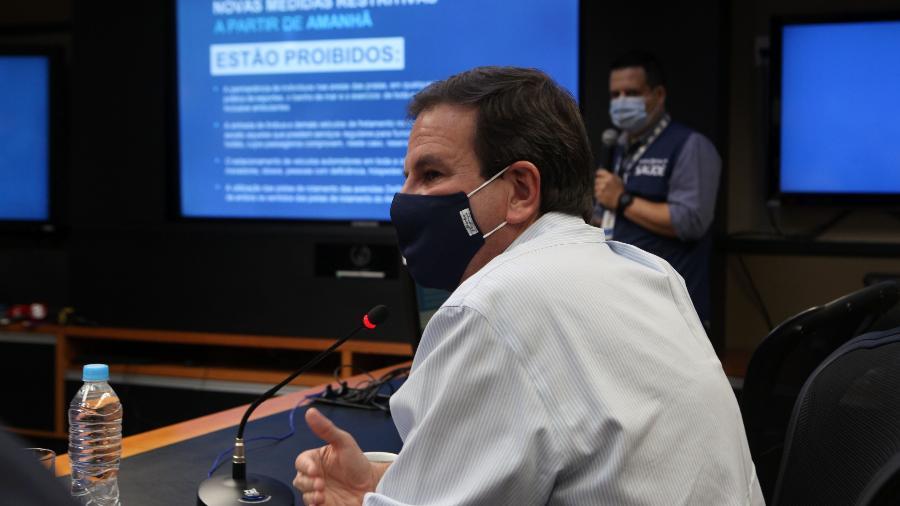 Paes disse que os leitos de hospitais da prefeitura já estão quase todos abertos - Prefeitura do Rio/Ricardo Cassiano