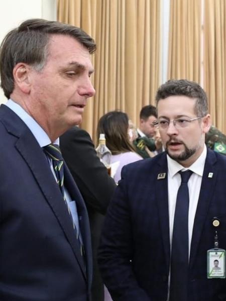 Jair Bolsonaro e Mateus Colombo - Reprodução