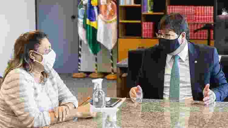 Marinete Silva, mãe de Marielle, em reunião com Luciano Mattos, procurador-geral de Justiça do Rio - Divulgação/MP-RJ - Divulgação/MP-RJ