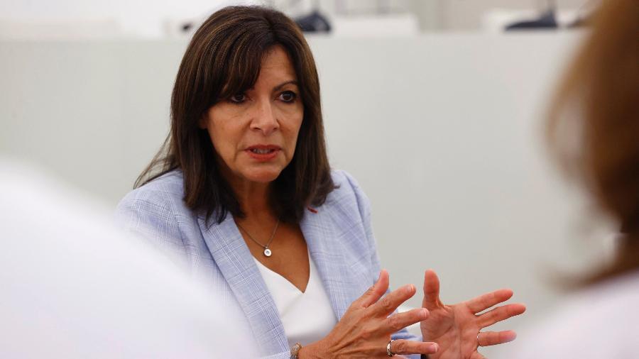 12 de setembro de 2021 - Anne Hidalgo, prefeita de Paris, anuncia que quer ser candidata a presidente da França - Thomas Samson/AFP