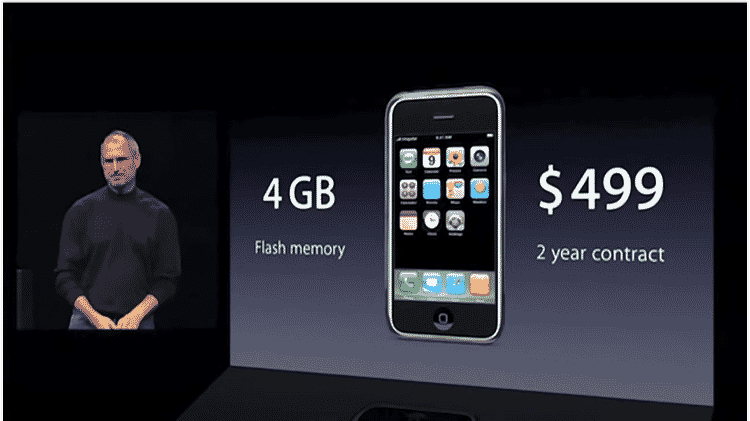 Preço do primeiro iPhone - Reprodução - Reprodução
