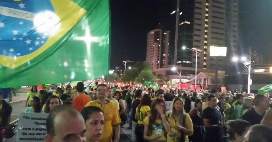 17.mar.2016 - Protesto em Campinas (SP) fecha a Norte Sul e parte rumo ao Centro de Convivência da cidade. A imagem foi enviada pelo internauta Sergio Tribst para o WhatsApp do UOL Notícias (11) 95520-5752